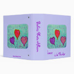 Babies Photo Album - Love Is In The Air 3 Ring Binder