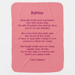 Poem Baby Blankets Zazzle
