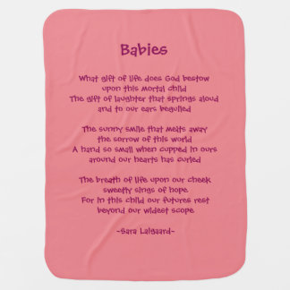 Babies poem receiving blanket