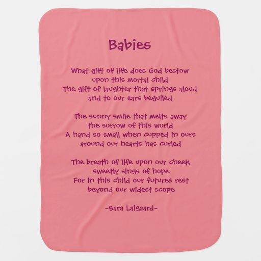 Babies Poem Receiving Blanket Zazzle