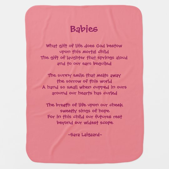Babies Poem Receiving Blanket Zazzle Com