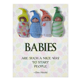 Babies Poster, Midwife Gift, Clay Babies, Quote Poster
