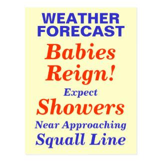 Babies Reign Baby Shower Invite Postcard