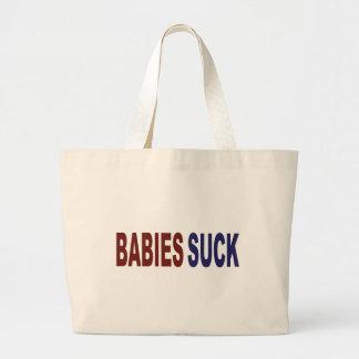 Babies Suck Tote Bags