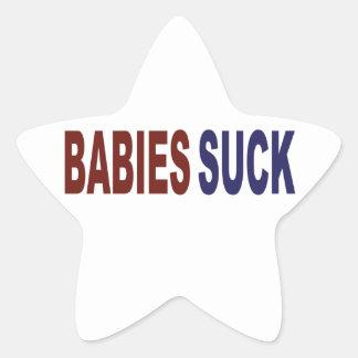 Babies Suck Star Sticker