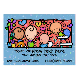 Babies Toddlers Daycare Nursery BLUE Large Business Cards (Pack Of 100)