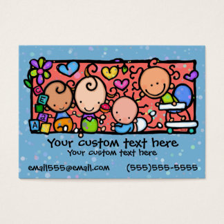 Babies Toddlers Daycare Nursery BLUE Business Card