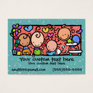 Babies Toddlers Daycare Nursery TEAL Business Card