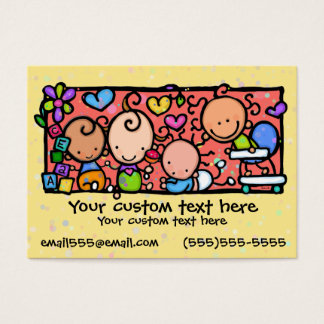 Babies Toddlers Daycare Nursery YELLOW Business Card