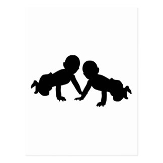 Babies twins postcard
