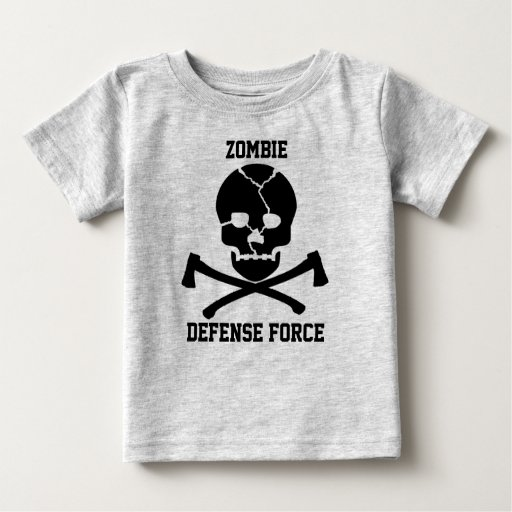 babies Zombie Defense Force: Skulls & Axes Infant T-shirt