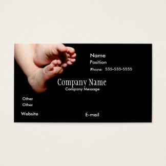BabiesFeetInBlack-4-zazzle, Company Name, Compa... Business Card