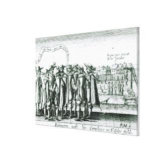 Babington con su Complices en St Giles Lona Estirada Galerias