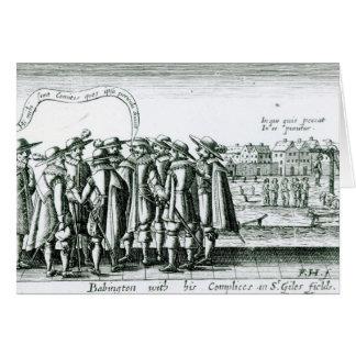 Babington con su Complices en St Giles Tarjetón