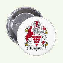 Babington Family Crest Button