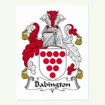 Babington Family Crest Postcard