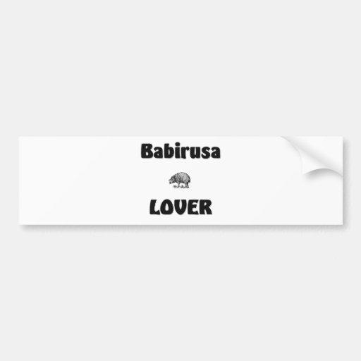 Babirusa Lover Bumper Stickers
