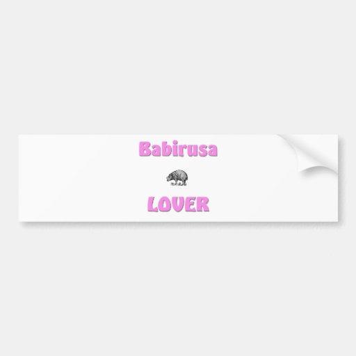 Babirusa Lover Bumper Sticker