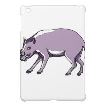 Babirusa or Deer Pig Drawing iPad Mini Cover