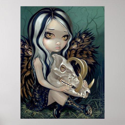 Babirusa Skull Art Print gothic fairy lowbrow