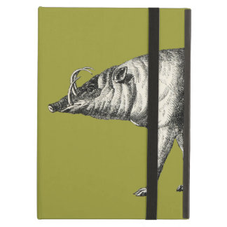 Babirusa Wild Pig Boar Hog Warthog Vintage iPad Folio Case