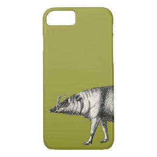 Babirusa Wild Pig Boar Hog Warthog Vintage iPhone 8/7 Case