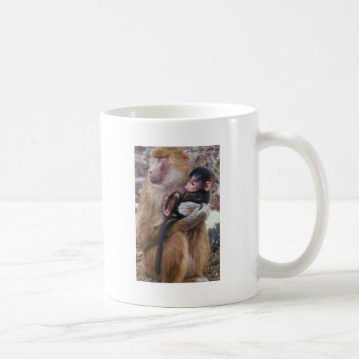 Baboon and Baby Coffee Mug