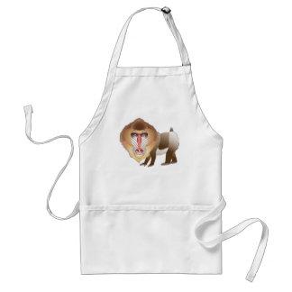 Baboon Adult Apron