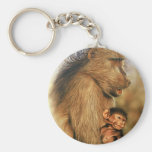 Baboon & Baby Prints Key Chain