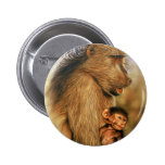 Baboon & Baby Prints Pin
