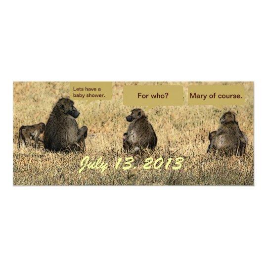 Baboon Baby Shower Invitation