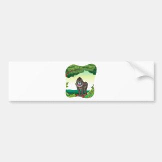 Baboon Car Bumper Sticker