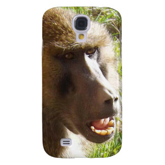 Baboon Face Showing Teeth Galaxy S4 Cases