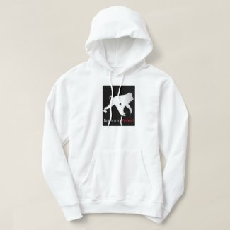 Baboon forest hoodie Black on Red