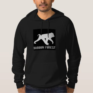 Baboon Forest Hoodie with grey