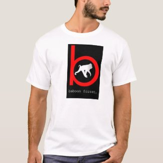 Baboon forest white t- shirt