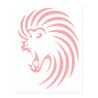 Baboon in Swish Drawing Style Postcard