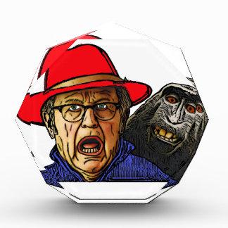 Baboon monkey scares English old man Award