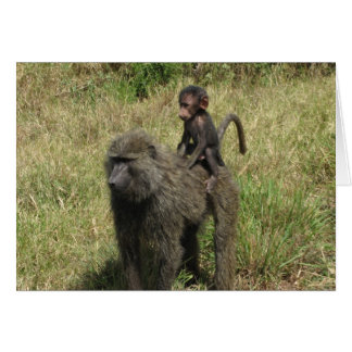 Baboon mother & baby card