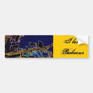 Baboon on Tree from Junglewalk,com Bumper Sticker