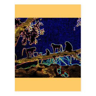 Baboon on Tree from Junglewalk,com Postcard