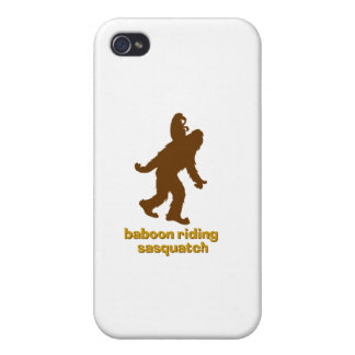 Baboon Riding Sasquatch Cases For iPhone 4