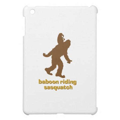 Baboon Riding Sasquatch iPad Mini Cover