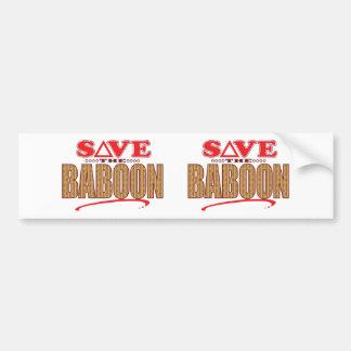 Baboon Save Bumper Sticker