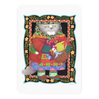 "Baboushka Kitty 4.5"" x 6.25"" Invitation/Flat Card"