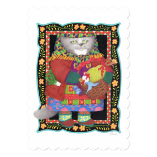 "Baboushka Kitty 5"" x 7"" Invitation/Flat Card"