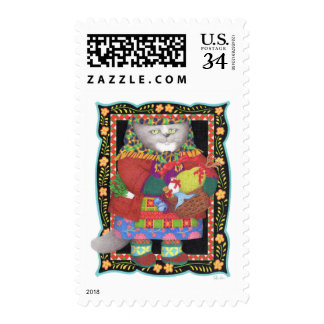 Baboushka Kitty Medium Postcard Stamps