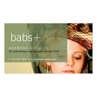 Bab's Face [green] Business Cards
