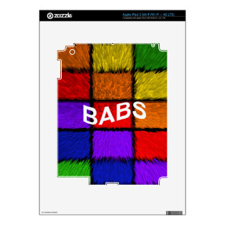 BABS ( female names ) Decal For iPad 3