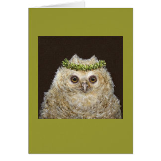 Babs the owlet card